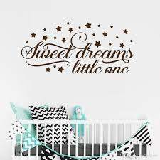 Star Moon Sweet Dreams Little One Wall Stickers For Nursery Kids Bedroom Playroom Vinyl Decals Living Room Art Decor Horse Wall Decals Horse Wall Stickers From Onlinegame 11 58 Dhgate Com