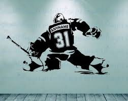 Goalie Wall Decal Etsy