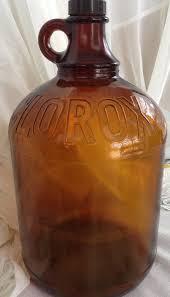 vintage bleach glass jug for bathroom