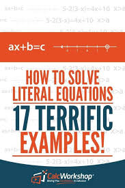 how to solve literal equations 17