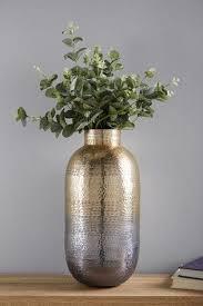 large hammered metal vase metal vase