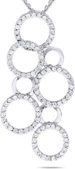 carat diamond multi circle pendant