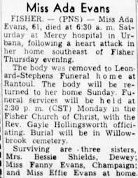 Ada Evans death 1949 - Newspapers.com
