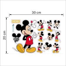 Cartoon Mickey Minnie Mouse Baby Home Decals Wall Stickers For Kids Room Baby Bedroom Wall Art Nursery Amusement Park Diy Poster Shopee Bazar