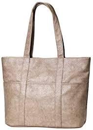 grey women top handle bag soft leather