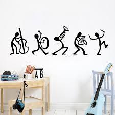 Musicians Vinyl Wall Sticker Artistic Pod