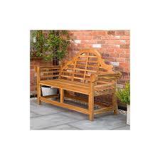 curved teak garden bench fswset13