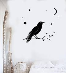 Animals Birds And Butterfles Wall Vinyl Decal Tagged Black Raven Sticker Wallstickers4you