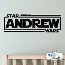 Personalized Star Wars Name With Lightsabers Jedi Knight Vinyl Wall Decal Decor Ebay