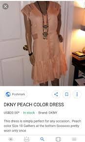 plus size dress dkny dress peach dress