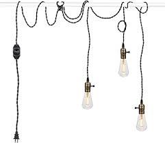 vintage pendant light kit cord with