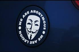 V For Vendetta Mask We Are Anonymous We Are Legion Car Decal Sticker New Idea Stickers