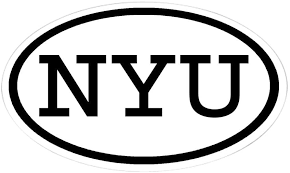 Amazon Com Cafepress Nyu Oval Oval Sticker Oval Bumper Sticker Euro Oval Car Decal Home Kitchen