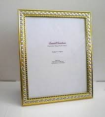 gold bling 8 x 10 picture frame gold