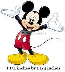 Amazon Com 1 Inch Tiny Mickey Mouse Removable Decal Sticker Art Walt Disney Home Decor 1x1 Inches Tall Baby