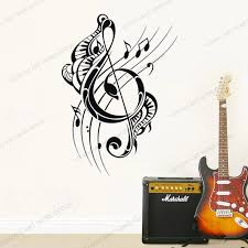 Art Music Audio Music Wallpaper Posters Musical Notes Vinyl Wall Decal Music Home Interior Room Astickers Mural Removable Rb567 Wall Stickers Aliexpress