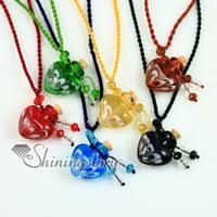 murano glass heart pendant necklaces