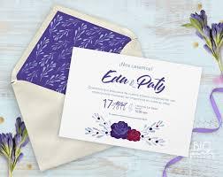 Invitacion Boda Rosa Purpura Bigpartystudio Espana
