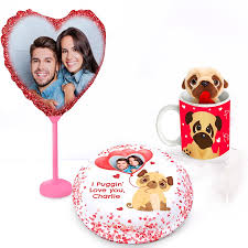 personalised pug birthday gift set from