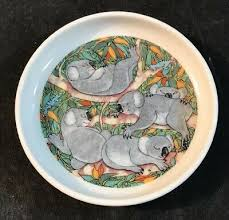 AUSTRALIAN FINE CHINA Wildlife Collection Koala Plate By Priscilla Parker -  £9.99 | PicClick UK