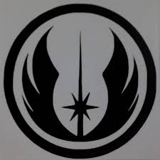 Red 1 2 3 4 Rebel Alliance Jedi Order Logo Vinyl Decal Sticker Star Wars White