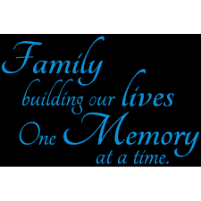 Family Building Our Lives One Memory At A Time Vinyl Decal Sticker Quote Large Sky Blue Walmart Com Walmart Com