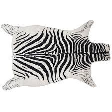 Samar Zebra Print White Black Rug 3 X 5 At Home
