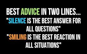 silence quotes smiling quotes best advice com