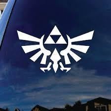 Zelda Wings Symbol Triangle White Car Window Vinyl Decal Sticker 6 Wide