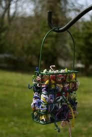 6 Decorated Chain Link Fences Bird Feeders Backyard Birds Bird Houses