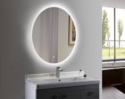 wall mounted oval dimmable led lighted