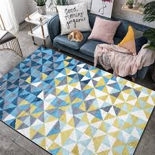 Fashion Nordic Geometric Carpet Yellow Blue Rugs Livingroom Bedroom Hallway Kids Room Carpet Bathroom Tapetes Customized Carpet Aliexpress