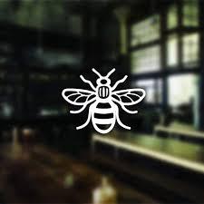 Amazon Com Hiusan 2 Manchester Bee Car Stickers Manchester Bee Sticker Decal Window Bumper Manchester Bee Sticker Phone Sticker With 5x4 Inches Home Kitchen