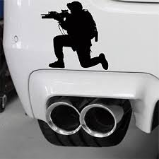 Army Soldier Military Rifle Car Decal Air Soft Paintball Usmc Special Forces Ebay