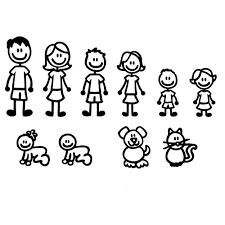 Family Laptop Car Truck Vinyl Decal Window Sticker Pv499 509 Stick Figure Family Family Decals Stick Family