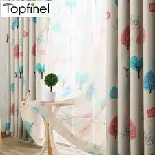 Topfinel Children Curtains For Living Room Bedroom Happy Tree Pattern Voile Curtain Kids Bedroom Girls Lovely Curtains Drapes Curtains For Curtains For Living Roomcurtain Design Aliexpress