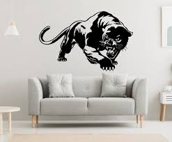 Panther Wall Decal Panther Wall Sticker Panther Wall Decor Etsy In 2020 Elephant Wall Decals Wall Decals Unique Decals