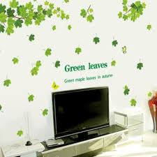 green leaves wall sticker maple leaf