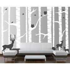 Isabelle Max 22 Piece Birch Tree Wall Decal Set Reviews Wayfair