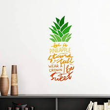 Amazon Com Diythinker Be A Pineapple Stand Tall Quote Vinyl Wall Sticker Wallpaper Room Decal Home Kitchen