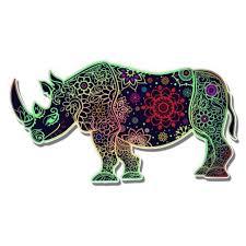 Rhino Tangle Design Vinyl Sticker Waterproof Decal Sticker 5 Walmart Com Walmart Com