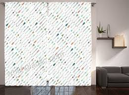 Ambesonne Arrow Decor Collection Tilted Arrows Native American Style Art Pattern Window Treatments Living Kids Boys Girls Room Curtain 2 Panels Set 108 X 84 Inches Navy Blue Coral White Kitchen Dining B01erinyoo