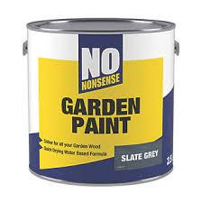 No Nonsense Garden Colour Wood Paint Semi Matt Slate Grey 2 5ltr Exterior Wood Paint Screwfix Com