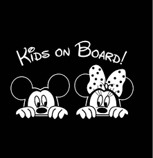 Minnie And Mickey Kids On Board Car Vinyl Decal Bumper Sticker Etsy
