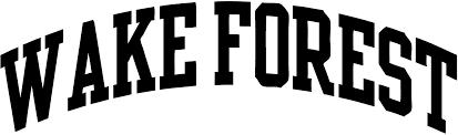 Amazon Com Tdt Printing Custom Decals Wake Forest University Vinyl Decal Sticker For Car Or Truck Windows Laptops Etc Automotive