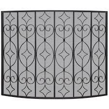 uniflame single panel iron fireplace