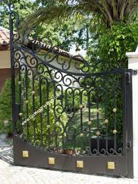 Driveway Gates Aluminum Wrought Iron Electric Automatic Custom Gates