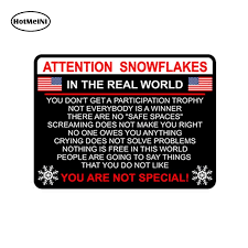Hotmeini Attention Snowflake Car Truck Bumper Sticker Political Window Decal Trump Potus Car Styling Car Sticker 13cm 11cm Shop The Nation