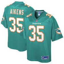 Youth NFL Pro Line Walt Aikens Aqua Miami Dolphins Team Player Jersey