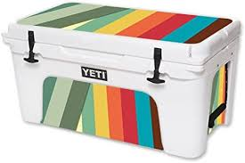 Amazon Com Mightyskins Cooler Not Included Skin Compatible With Yeti Tundra 65 Qt Cooler Wrap Cover Sticker Skins Stripes